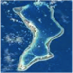 Aeriel shot of Diego Garcia