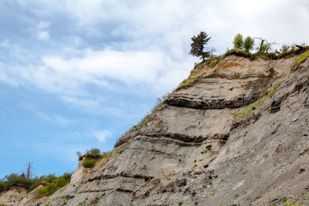 Alaska eroding cliff