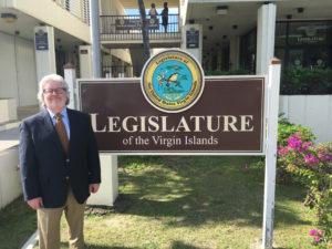 Jeremy Feakins at the Legislature of the U.S. Virgin Islands