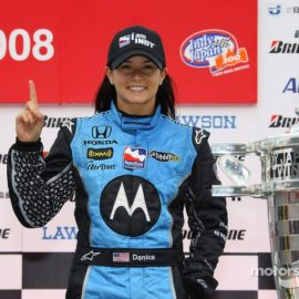 Danica Patrick wins the Indy Japan 300