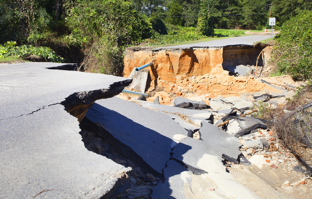 road damage north carolina superstorm hurricane matthew