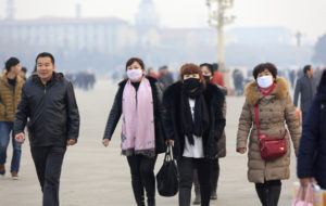 pollution masks in China