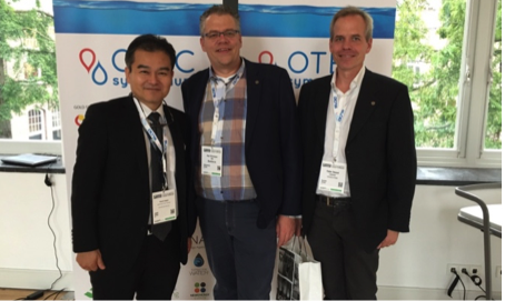 Left to right: Yasuyuki Ikegami, Associate Professor of the Institute of Ocean Energy, Saga University; Paul Dinnissen, CIO of Bluerise and OTEC Foundation cofounder; and Petter Dessne, University of Borås and Founder of OTEC Africa and the OTEC Africa Conference.